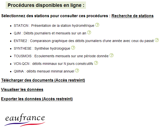 Page d'accueil Banque HYDRO""